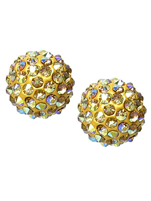 Oorbellen goud met strass