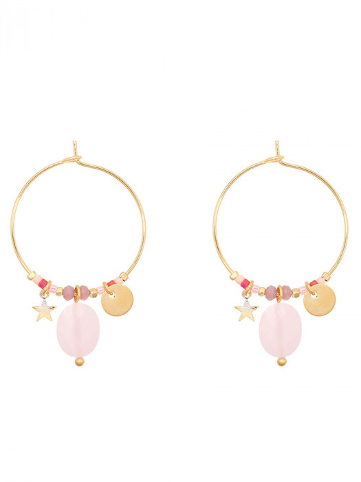 Oorbellen Gold Plated Roze