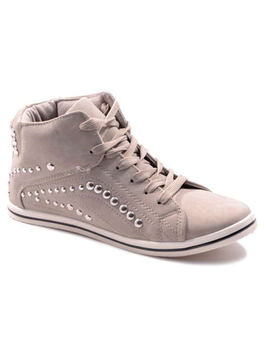 Sneakers Studded Gray