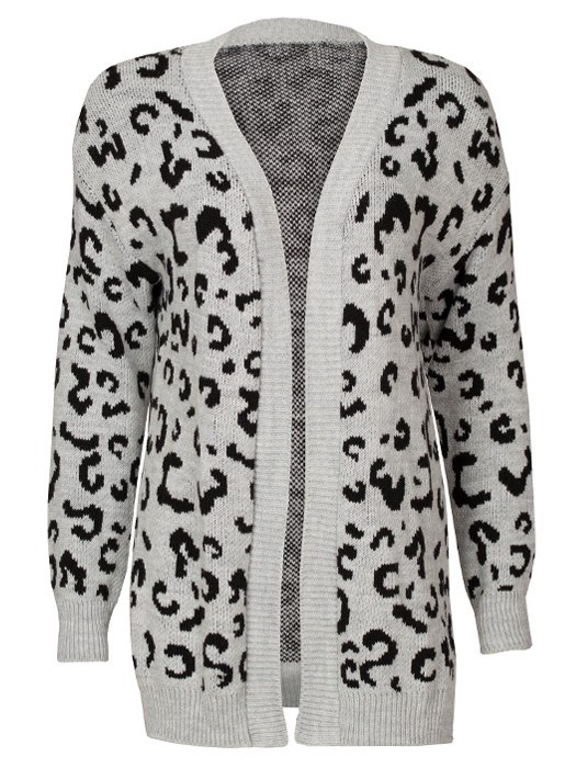 Image of Vest Leopard Gray