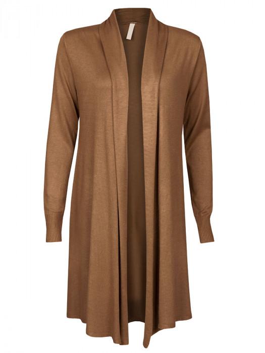 Vest Openvallend Camel