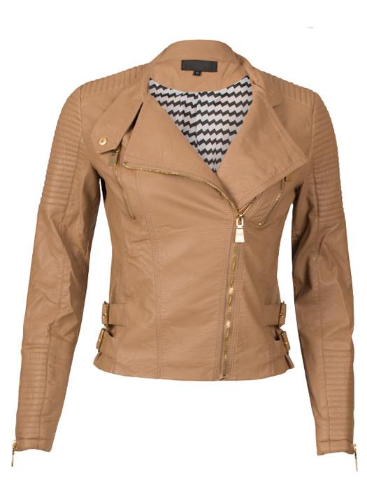 Van Fashionize Biker Jacket Camel Prijsvergelijk nu!