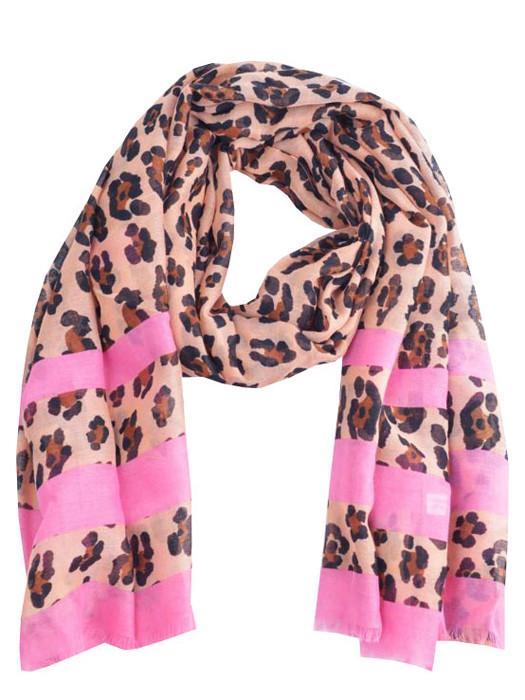 Sjaal Leopard Pink
