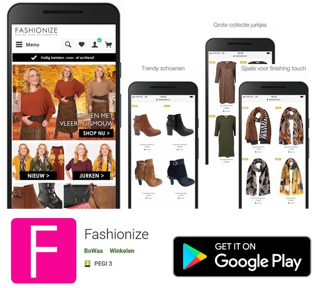 Installeer de Fashionize app voor Android