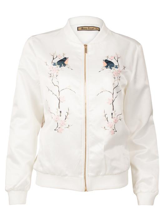 Bomberjacket Blossom & Birds