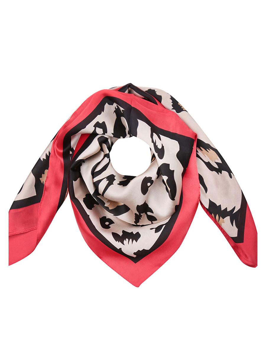 Sjaal Leopard Rood