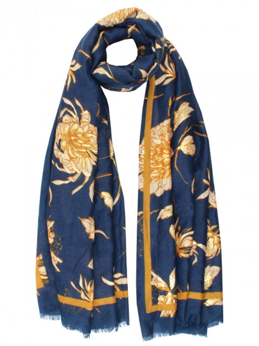 Sjaal Blossom Blauw