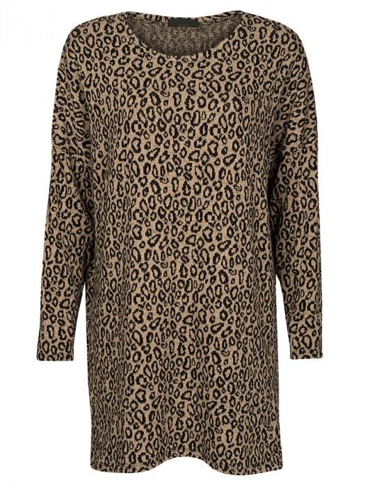 Sweater Dress Leopard Beige