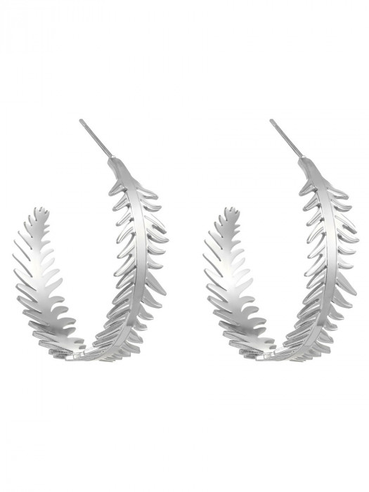 Oorbellen Palm Zilver