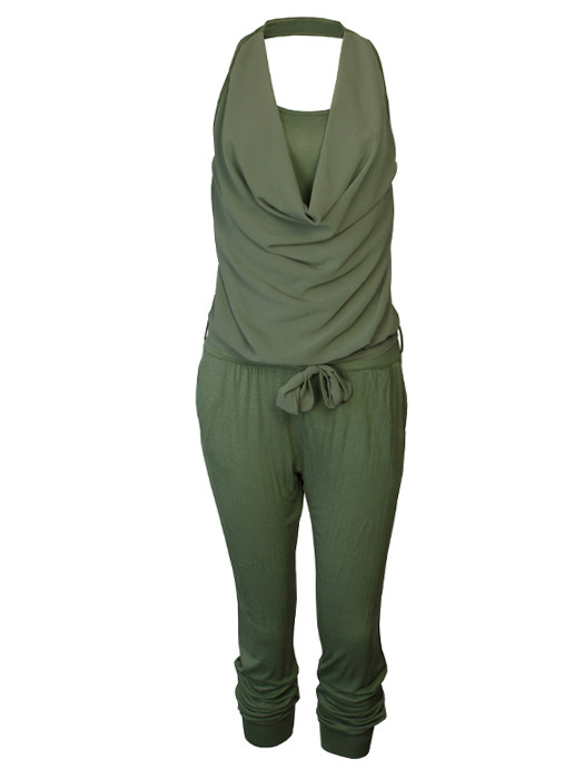Trendy Jumpsuit Army