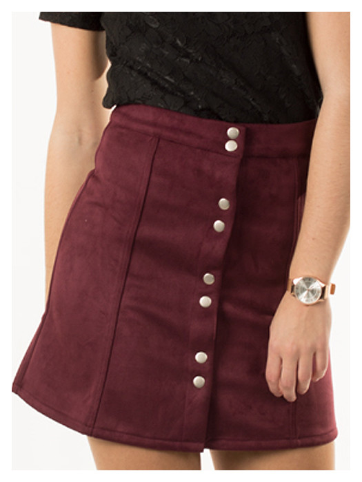 Skirt Wine Red