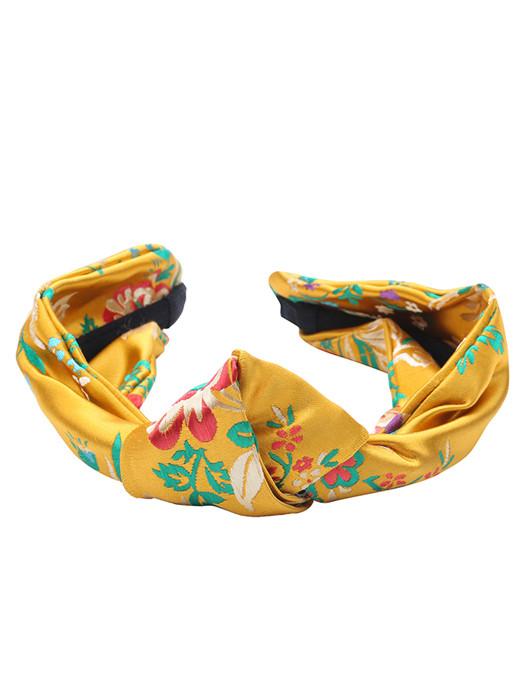 Haarband Silk Flowers Oker