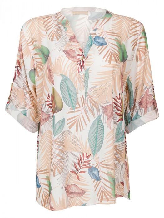 Blouse Tropical Gekleurd
