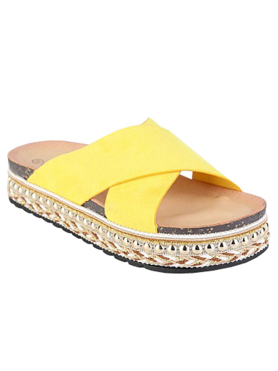 Van Fashionize Sandalen Ibiza Geel Prijsvergelijk nu!