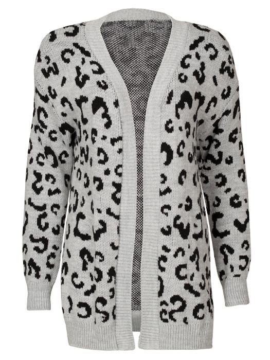 Vest Leopard Gray