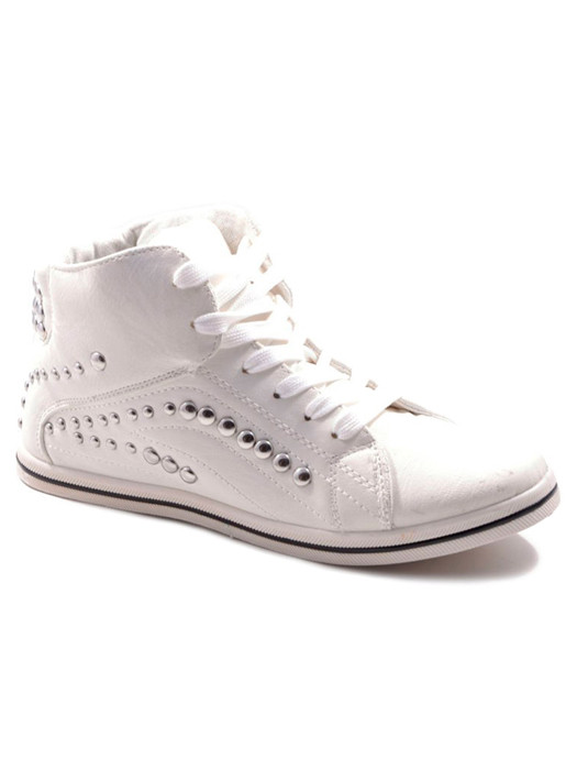 Sneakers Studded White