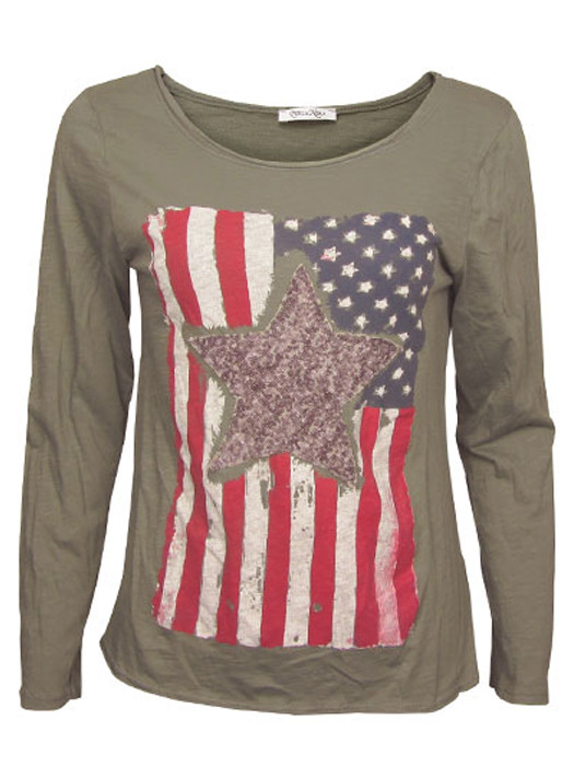 Shirt Stars & Stripes Army