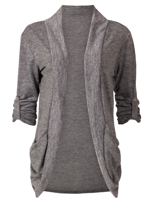 Image of Vest Casual Melange Gray