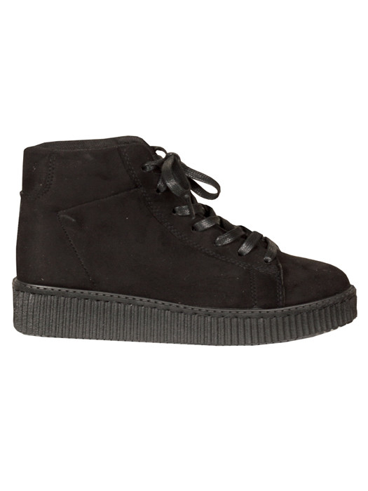 Suède Look Creeper Sneakers