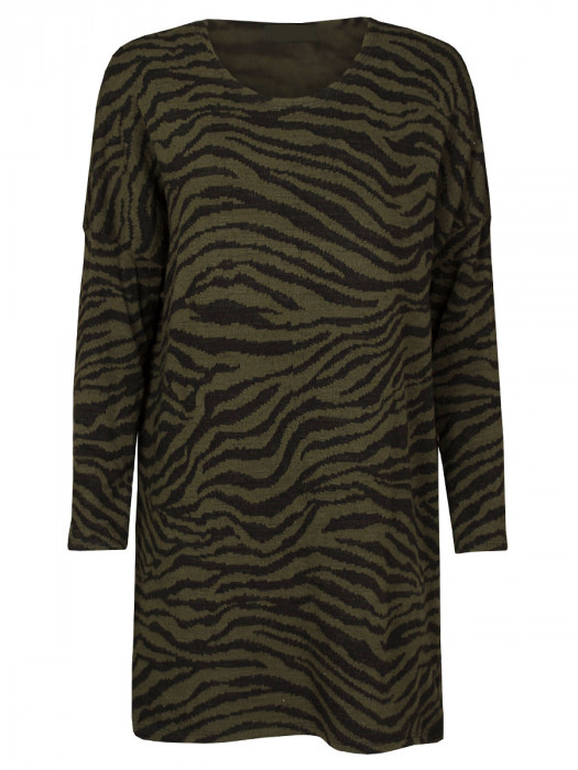 Sweater Dress Zebra Army