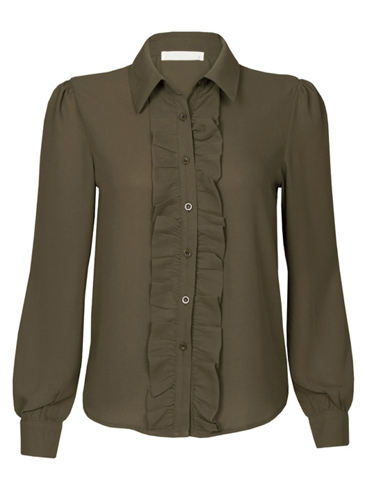 Blouse Ruches Army