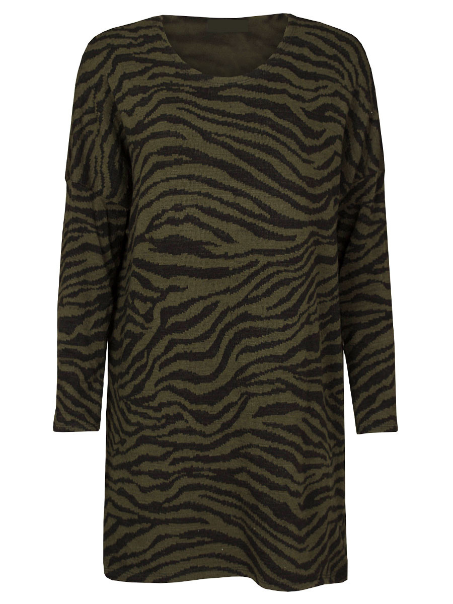Sweater Dress Zebra Army