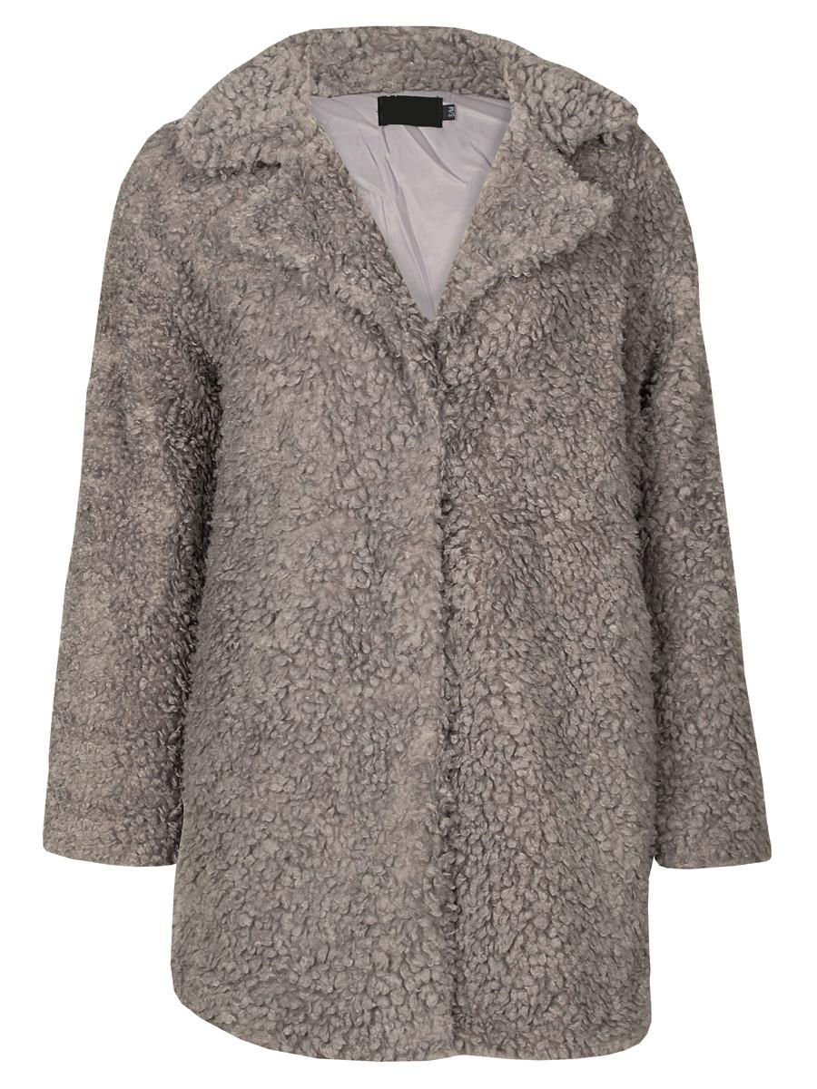 Image of Teddy Coat Gray