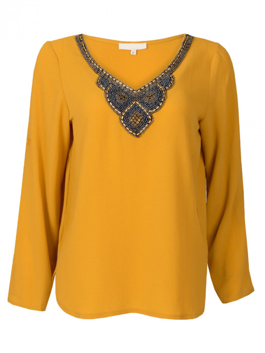 Top Beaded Collar Oker