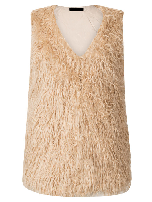 Image of Gilet Fluffy Beige