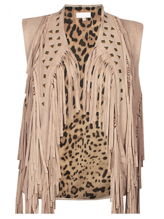 Gilet Fringes detail