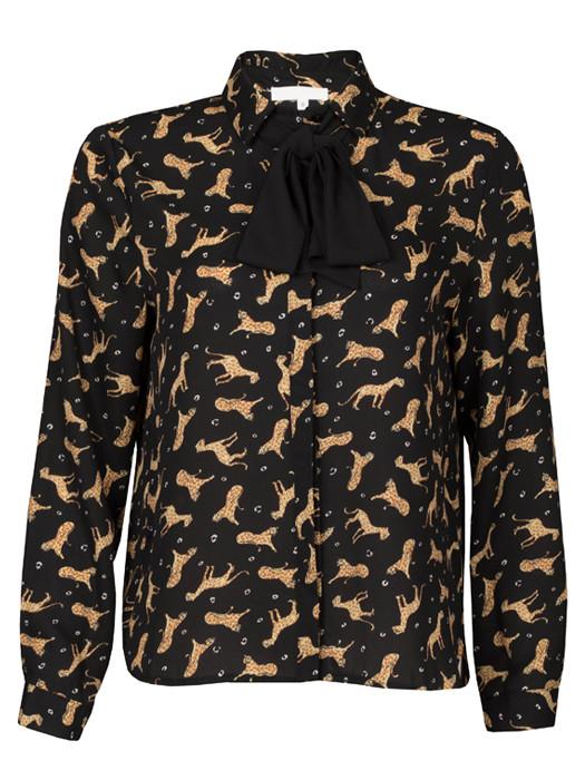 Blouse Leopard Bow Tie