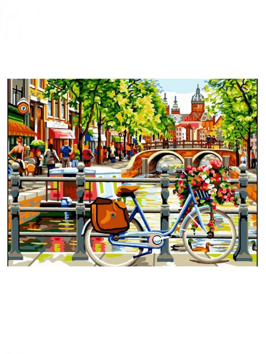 Amsterdamse Gracht 50x40 Schilderen op Nummer