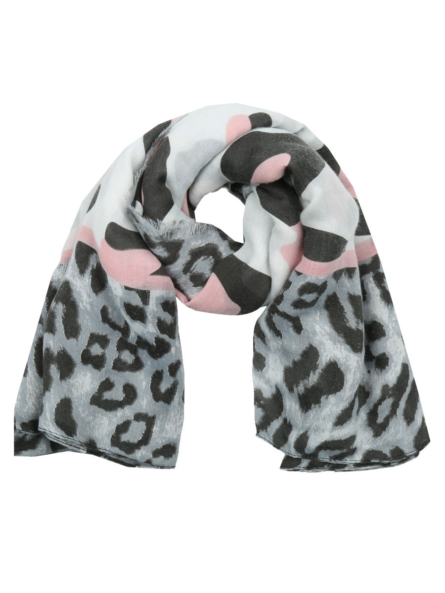 Sjaal Luipaard Roze