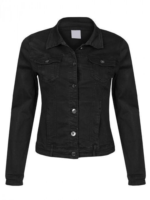 Jeans Jacket Stretch Zwart