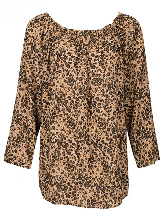 Top Leopard Beige