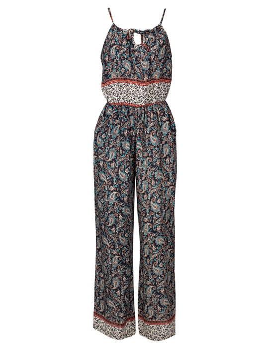 Image of Jumpsuit Paisley Navy