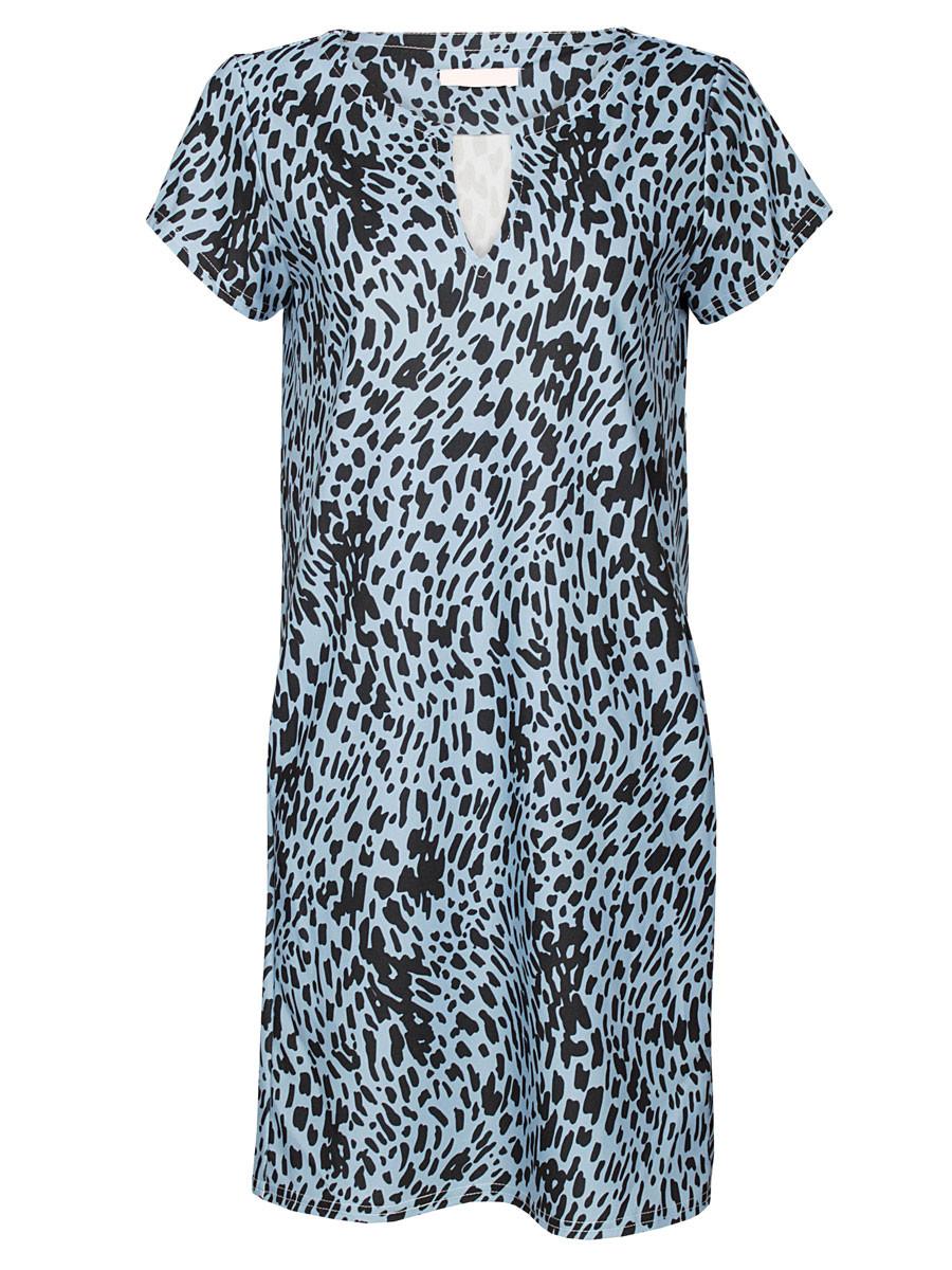 Jurk Chelsey Leopard Blauw