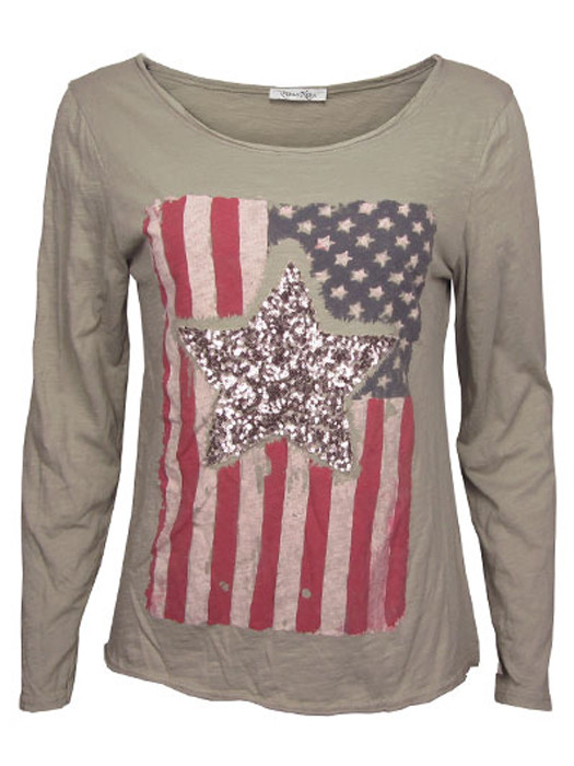Shirt Stars & Stripes Taupe