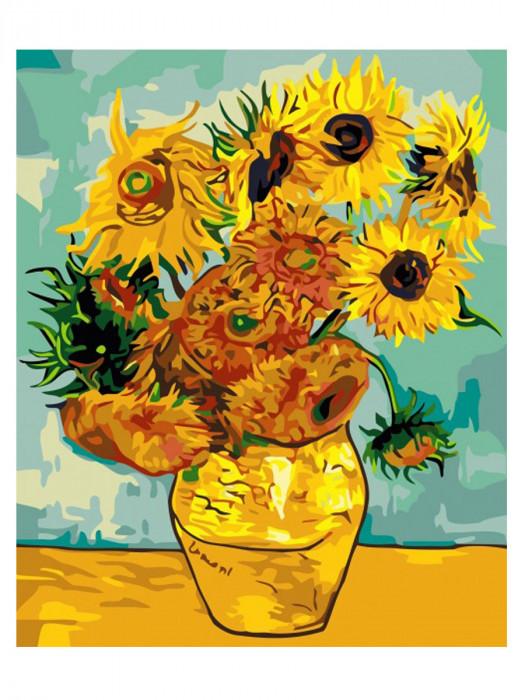 Zonnebloem van Gogh 50x40 Schilderen op Nummer