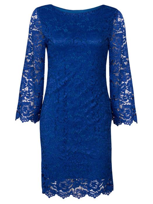 e791fd34d15bfc Jurk kant blauw feestjurken jurken rokken kleding jpg 525x700 Jurk kant  blauw