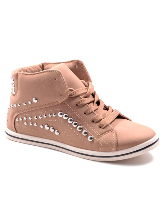 Sneakers Studded Taupe