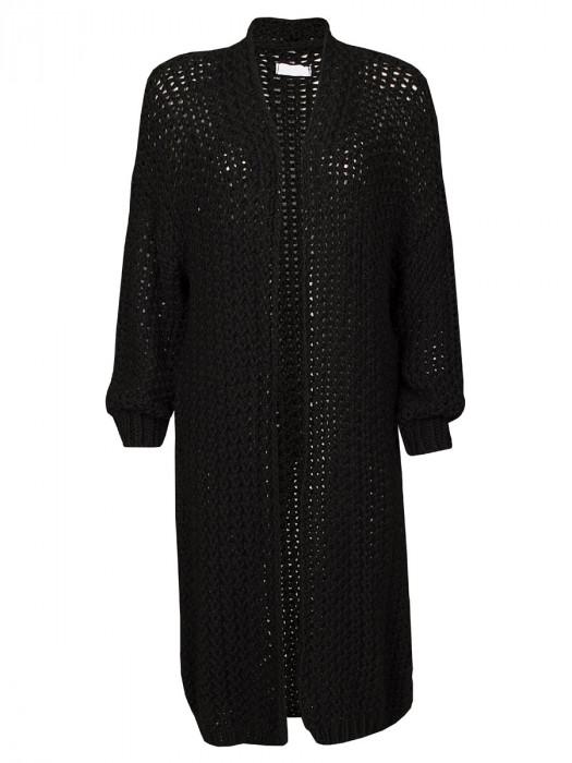 Vest Lang Luxe Zwart