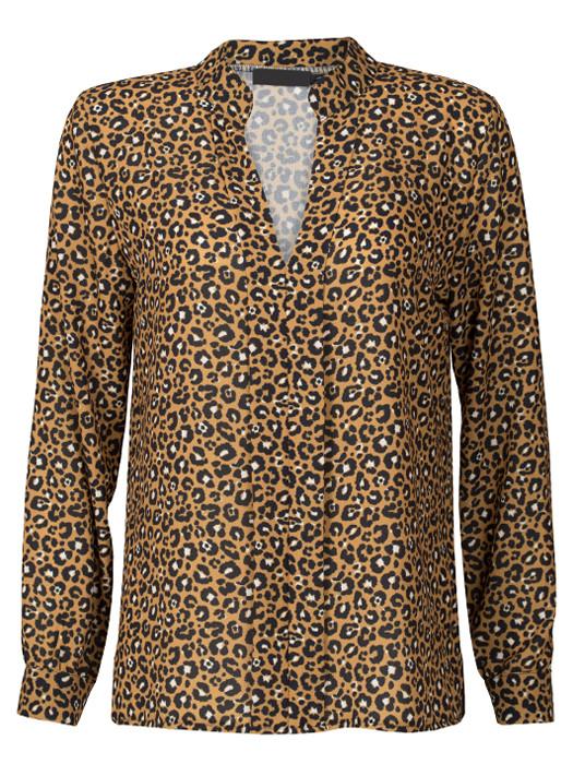 Blouse Leopard Oker