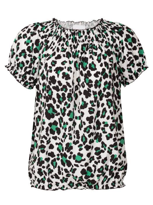 Top Leopard Wit/Groen