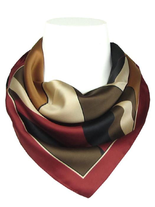 Sjaal bordeaux met vormen