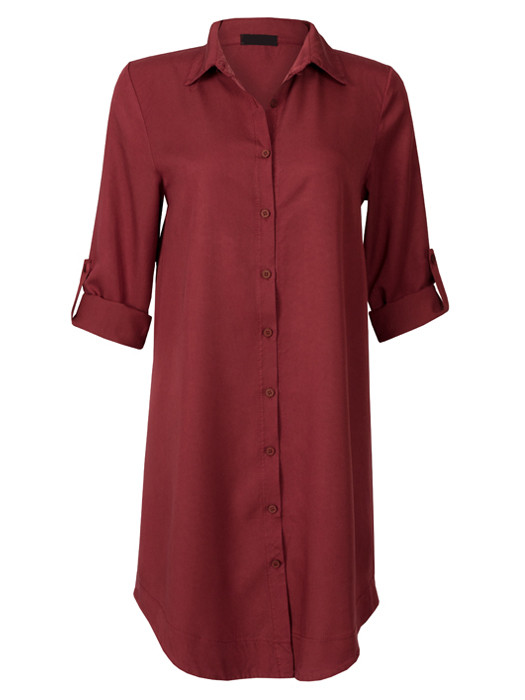 Blouse Long Bordeaux
