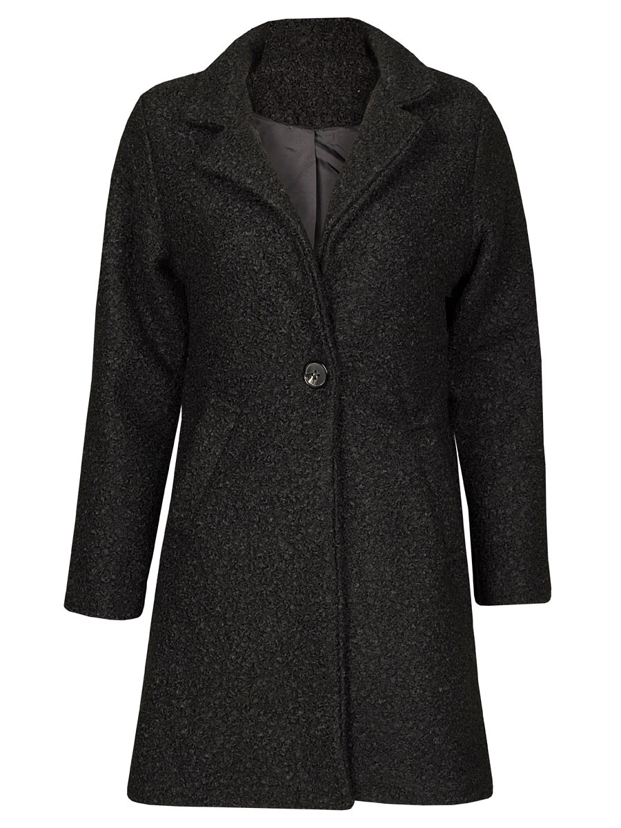 Teddy Coat Zwart