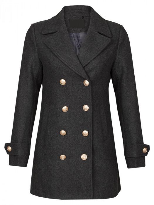 Coat Knopen Grijs