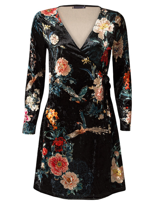 Van Fashionize Dress Velvet Flowers Prijsvergelijk nu!