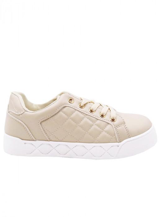 Sneakers Gestikt Beige